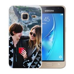 Capinha de Celular Samsung Galaxy J1 2016 - 1 unidade - 69x129mm em PS Transparente  - 4x0 - Sem Cobertura -  (cód. 19586)
