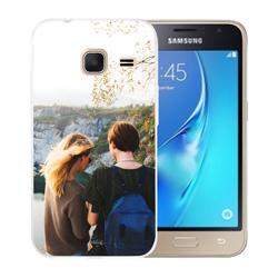 Capinha de Celular Samsung Galaxy J1 Mini 2016 - 1 unidade - 63x115mm em PS Transparente  - 4x0 - Sem Cobertura -  (cód. 19580)