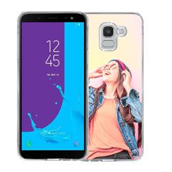 Capinha de Celular Samsung Galaxy J6 - 1 unidade - 73x150mm em PS Transparente  - 4x0 - Sem Cobertura -  (cód. 24453)