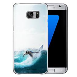 Capinha de Celular Samsung Galaxy S7 Edge - 1 unidade - 72x148mm em PS Transparente  - 4x0 - Sem Cobertura -  (cód. 19451)