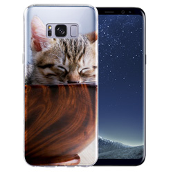 Capinha de Celular Samsung Galaxy S8 - 1 unidade - 67x145mm em PS Transparente  - 4x0 - Sem Cobertura -  (cód. 19444)