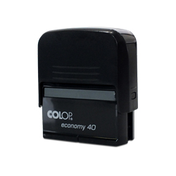 Carimbo Colop Economy 40 - 1 unidade - 22x58mm em Plástico  - 1x0 -  - Personalizado (cód. 20889)