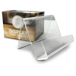 Display Porta Cartões - 1 unidade - 59x80mm em Acrílico  - Sem impressão - Sem Cobertura -  (cód. 11827)