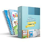 Kit de Amostra Agenda Escolar - 1 unidade - 145x205mm em Pasta 250g - 4x0 - Sem Cobertura -  (cód. 14790)