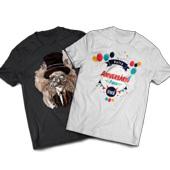 Kit de Amostra Camisetas - 210x297mm em Algodão 100g - 4x0 -  - Meio-Corte Personalizado - Contém Modelo P/M/G/XG