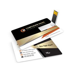 Pen Cards 16 GB - 1 unidade - 53x84mm em Plástico  - 4x4 - Sem Cobertura - Personalizado (cód. 24871)