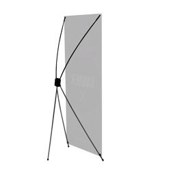 Suporte X para Banner - 1 unidade - 800x1800mm em Plástico  - Sem impressão -  - Aste Flexível de Fibra de Carbono (cód. 23384)