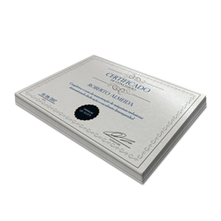Certificados - 10 unidades - 210x297mm em Perolizado 250g - 4x0 - Sem Cobertura -  (cód. 2912)