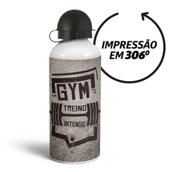 Squeeze Branca 500 ml - 10 unidades - 190x70mm em Alumínio  - 4x0 - Sem Cobertura - Personalizado (cód. 21929)