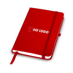 Caderneta Tipo Moleskine Vermelha - 100 unidades - 210x137mm em Polén Soft 80g - 4x0 - Sem Cobertura - Personalizado (cód. 21157)