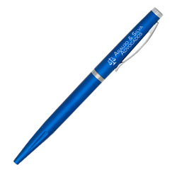 Caneta Executiva Azul - 100 unidades - 4x40mm em Plástico  - 4x0 - Sem Cobertura -  (cód. 19962)