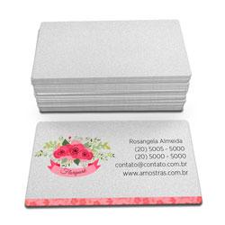 Cartão de Visita - 100 unidades - 45x80mm em Perolizado 250g - 4x0 - Sem Cobertura - 4 Cantos Arredondados Mini (cód. 3416)