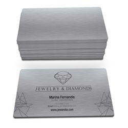 Cartão de Visita - 100 unidades - 45x80mm em Platinum 300g - 4x0 - Sem Enobrecimento - 4 Cantos Arredondados Mini (cód. 3441)