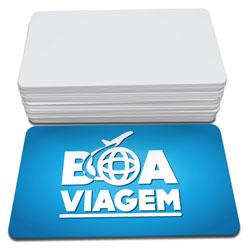 Cartões de Visita - 48x88mm em Couché Brilho 300g - 4x0 - Sem Cobertura - 4 Cantos Arredondados