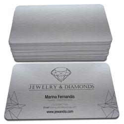 Cartão de Visita - 100 unidades - 48x88mm em Platinum 300g - 4x0 - Sem Cobertura - 4 Cantos Arredondados (cód. 3656)