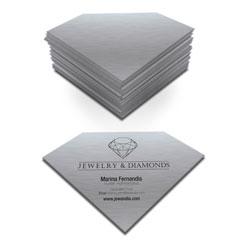 Cartão de Visita - 100 unidades - 48x88mm em Platinum 300g - 4x0 - Sem Cobertura - Corte Especial (cód. 4301)