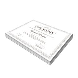 Certificados - 100 unidades - 210x297mm em Alta Alvura 240g - 4x0 - Sem Cobertura -  (cód. 2907)