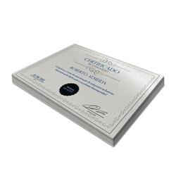 Certificados - 100 unidades - 210x297mm em Perolizado 250g - 4x0 - Sem Cobertura -  (cód. 2915)