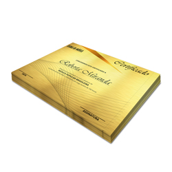 Certificados - 100 unidades - 210x297mm em Aurum 300g - 4x0 - Sem Cobertura -  (cód. 3088)