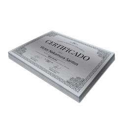 Certificados - 100 unidades - 210x297mm em Platinum 300g - 4x0 - Sem Cobertura -  (cód. 3512)