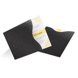 Convite de Casamento Clássico 01 Los Angeles Estampado - 100 unidades - 200x200mm em Envelope Color Plus Estampado Los Angeles 180g - Lâmina Couché 250g - 4x0 - Sem Cobertura - Faca Padrão (cód. 11920)