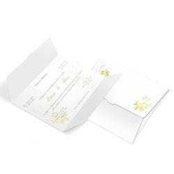 Convite de Casamento Clássico 05 - 100 unidades - 132x175mm em Envelope Couché 250g - 4x4 - Sem Cobertura - Faca Padrão (cód. 12358)