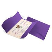 Convite de Casamento Clássico 08 - 142x210mm em Envelope Color Plus Amsterdan 180g - Lâmina Couché 250g - 4x0 - Sem Cobertura - Faca Padrão