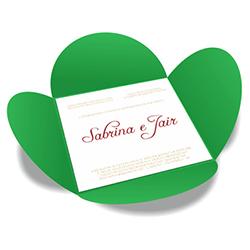 Convite de Casamento Especial 07 Buenos Aires - 100 unidades - 148x148mm em Envelope Color Plus 180g - Lâmina Couché 250g - 4x0 - Sem Cobertura - Faca Padrão (cód. 16402)