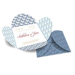 Convite de Casamento Especial 09 - 100 unidades - 148x148mm em Envelope Couché 250g - 4x4 - Sem Cobertura - Faca Padrão (cód. 12580)