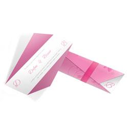 Convite de Casamento Moderno 01 - 100 unidades - 61x210mm em Envelope Perolizado 180g - 4x4 - Sem Cobertura - Faca Padrão (cód. 12586)