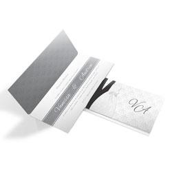 Convite de Casamento Moderno 07 - 100 unidades - 133x280mm em Envelope Perolizado 180g - 4x4 - Sem Cobertura - Faca Padrão (cód. 12625)