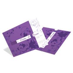 Convite de Casamento Romântico 02 Amsterdan - 100 unidades - 193x193mm em Envelope Color Plus Amsterdan 180g - Lâmina Couché 250g - 4x0 - Sem Cobertura - Faca Padrão (cód. 12651)