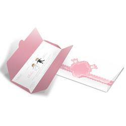 Convite de Casamento Romântico 09 - 100 unidades - 132x265mm em Envelope Couché 250g - 4x4 - Sem Cobertura - Faca Padrão (cód. 12694)