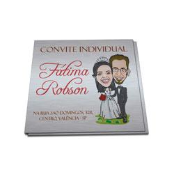 Convite Individual - 100 unidades - 40x50mm em Platinum 300g - 4x0 - Sem Cobertura -  (cód. 12805)