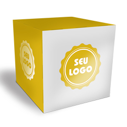Cubo Promocional - 100 unidades - 300x300mm em Couché Brilho 300g - 4x0 - Verniz Total Brilho Frente - Faca Padrão (cód. 21098)