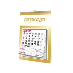 Folhinha Comercial - 100 unidades - 180x270mm em Duplex Ouro 300g - 4x0 - Sem Cobertura - Vareta - Bloco Calendário 2020 (cód. 1648)
