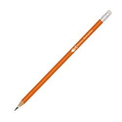 Lápis Laranja - 100 unidades - 7x50mm em Madeira Resinada  - 4x0 -  - Personalizado - Com Borracha (cód. 21830)