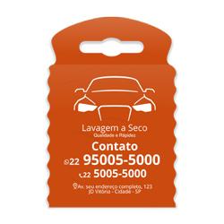 Lixeira para Carro Impressão em Branco - 100 unidades - 175x260mm em TNT Laranja   - 1x0 - Sem Cobertura - Impressão em Branco (cód. 23334)