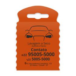 Lixeira para Carro Impressão em Preto - 100 unidades - 175x260mm em TNT Laranja   - 1x0 - Sem Cobertura - Impressão em Preto (cód. 23330)