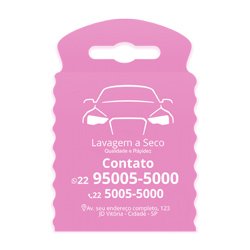 Lixeira para Carro Impressão em Branco - 100 unidades - 175x260mm em TNT Rosa   - 1x0 - Sem Cobertura - Impressão em Branco (cód. 23363)