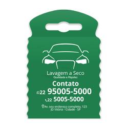 Lixeira para Carro Impressão em Branco - 100 unidades - 175x260mm em TNT Verde  - 1x0 - Sem Cobertura - Impressão em Branco (cód. 23371)