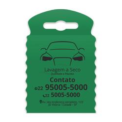 Lixeira para Carro Impressão em Preto - 100 unidades - 175x260mm em TNT Verde  - 1x0 - Sem Cobertura - Impressão em Preto (cód. 23367)