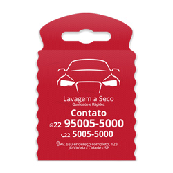 Lixeira para Carro Impressão em Branco - 100 unidades - 175x260mm em TNT Vermelho   - 1x0 - Sem Cobertura - Impressão em Branco (cód. 23379)