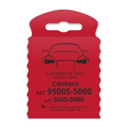 Lixeira para Carro Impressão em Preto - 100 unidades - 175x260mm em TNT Vermelho   - 1x0 - Sem Cobertura - Impressão em Preto (cód. 23375)