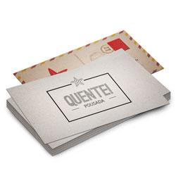 Postal - 100 unidades - 98x178mm em Reciclato 240g - 4x4 - Laminação Fosca Frente e Verso -  (cód. 8876)
