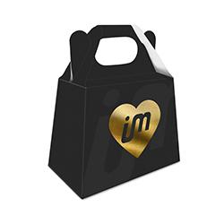 Caixa para Bijuterias Dourado - 1.000 unidades - 253x144mm em Couché Fosco 300g - 4x0 - Laminação Soft Touch - Hot Stamping Dourado Frente - Faca Padrão (cód. 27460)