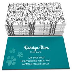Cartão de Visita - 1.000 unidades - 48x88mm em Couché Fosco 300g - 4x1 - Sem Cobertura -  (cód. 11952)