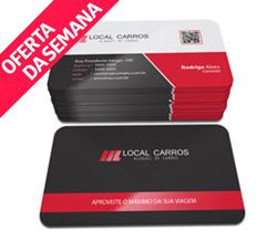 Cartão de Visita - 1.000 unidades - 54x85mm em Couché Fosco 300g - 4x4 - Laminação Fosca e Verniz Localizado F/V - 4 Cantos Arredondados (cód. 16022)