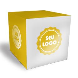 Cubo Promocional - 1.000 unidades - 300x300mm em Couché Brilho 300g - 4x0 - Verniz Total Brilho Frente - Faca Padrão (cód. 21101)