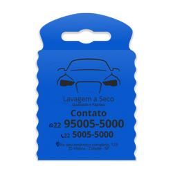 Lixeira para Carro Impressão em Preto - 1.000 unidades - 175x260mm em TNT Azul   - 1x0 - Sem Cobertura - Impressão em Preto (cód. 23313)